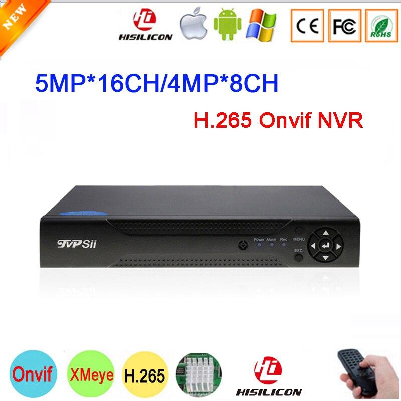 5mp/4mp/1080 P/960 P/720 P IP Камера Hi3536D XMeye 1CH RCA аудио H.265 5mp 16CH 4MP 8CH Onvif IP видеорегистратор Регистраторы Бесплатная доставка