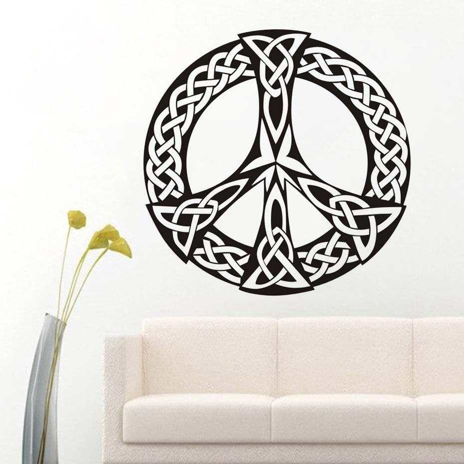 Peace Sign Bedroom Accessories: Peace Sign Vinyl Wall Stickers Art Murals Housewares