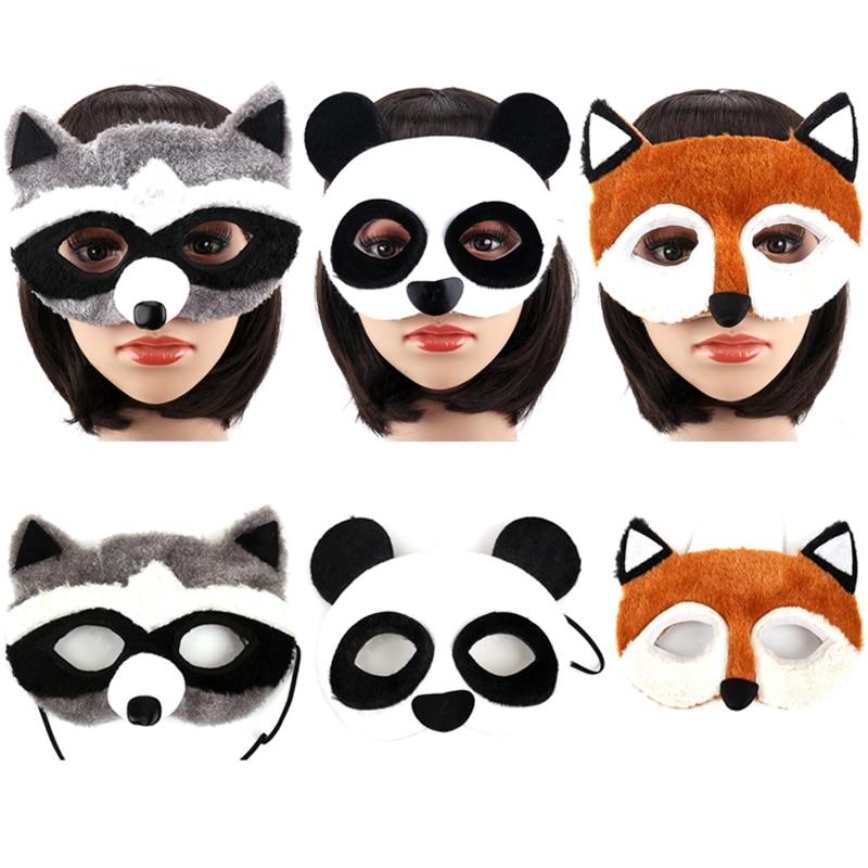 Женска маска за животиње Цуте Фок Панда парти маска за девојке Маскаре Халловеен Хорор маске за поклон маскера