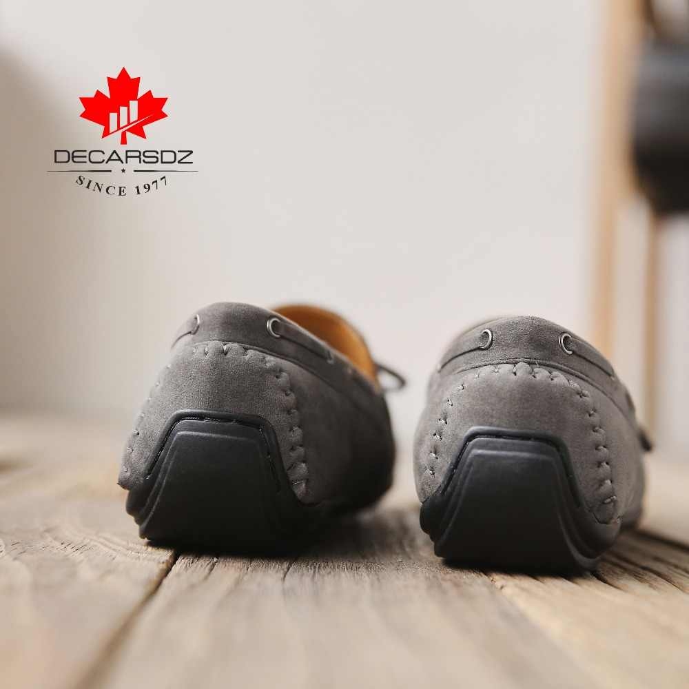 Gündelik erkek ayakkabısı 2020 sürüş tekne ayakkabı erkekler marka Moccasins eğlence erkek ayakkabıları sonbahar moda bağcıklı rahat süet loafer'lar