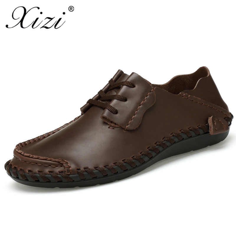2aa857b247e XIZI men s handmade Casual Genuine Leather Add cotton warm Loafers shoe Male  oxford shoes comfortable boat shoes Big size 38 48-in Men s Casual Shoes  from ...