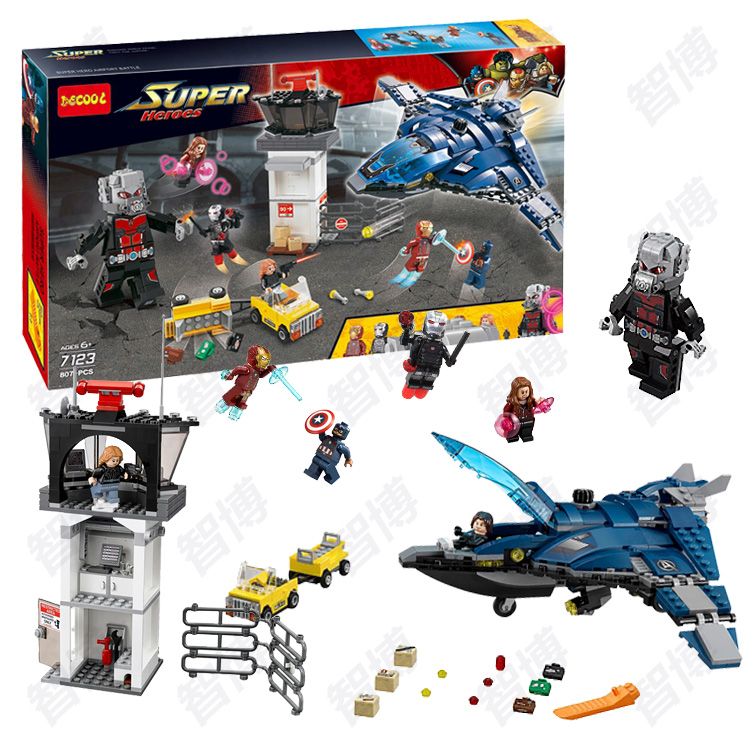 Decool 7123 Captain America 3 Civil War Giant Ant Man airport for Avengers assembled bricks blocks fit for lego movie 76051 victorian america and the civil war