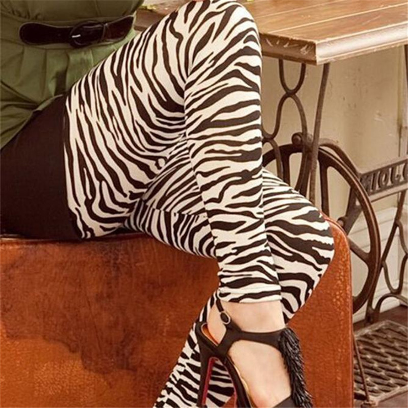 US $3.93 25% OFF| FASHION  High Elastic zebra fashion summer Thin Printing Nine Leggings Pants bts Y91430-in Leggings from Women's Clothing on Aliexpress.com | Alibaba Group