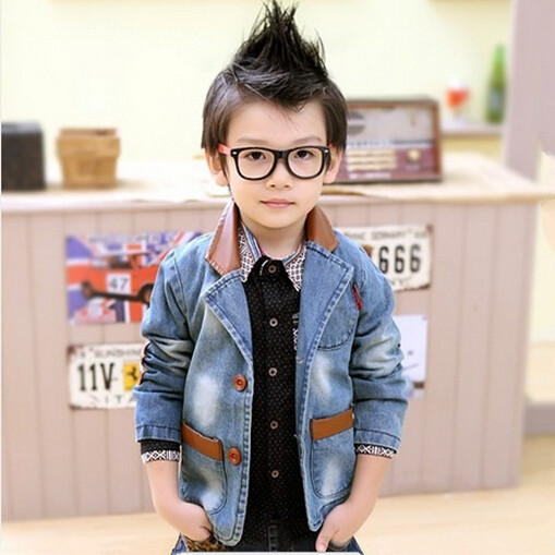 Cool Aliexpress Com Buy Kids Coat Boy Denim Jacket Leather Collar Hairstyles For Men Maxibearus