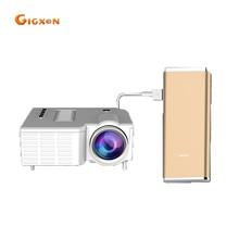 Gigxon-g28a g28b (sin hdmi) qvga soporte full hd 1080 p proyector de bolsillo led multimedia hdmi 500 lúmenes mini proyector