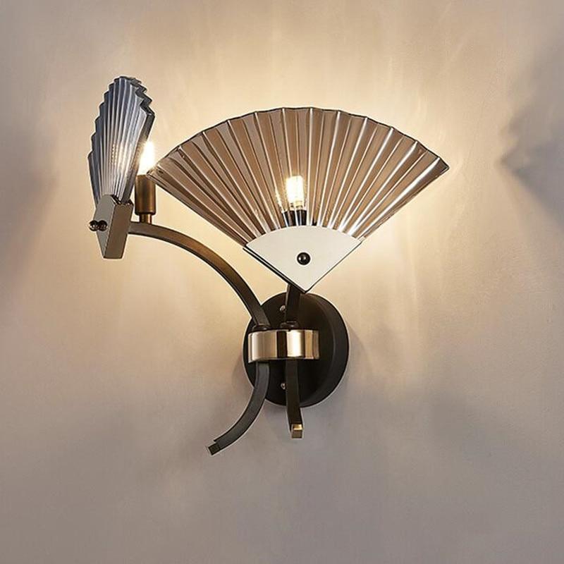 Новый китайский Мода Бра классического просто освещение Гостиная Спальня wandlamp проход фон Nordic светодио дный настенные светильники