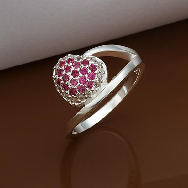 R315-8 Silver plated new design finger ring for lady