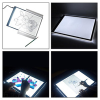 Amzdeal A4 LED Light Digital Tablets Drawing Board Art Stencil Board Drawing Pad Table Kits Blank