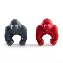 Креативный чехол гориллы предотвращает перелив шимпанзе силиконовый пакетик для чая держатель Кухонные гаджеты