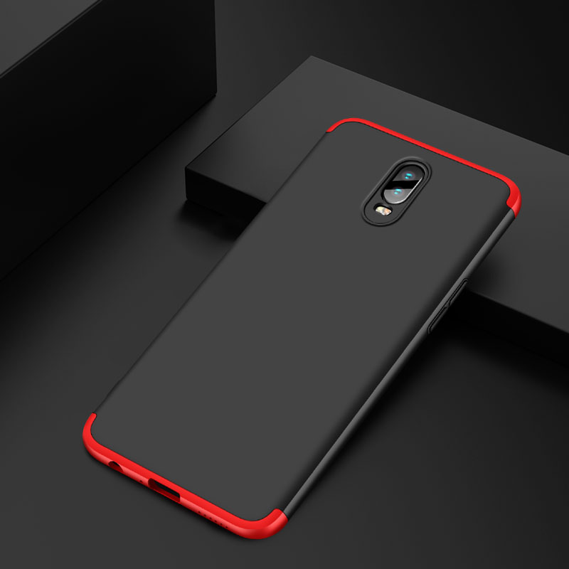 360 Full Protection Case For Oppo R17 Case Luxury Hard PC Shockproof Back Cover Case For Oppo R17 Coque in Half wrapped Cases from Cellphones Telecommunications