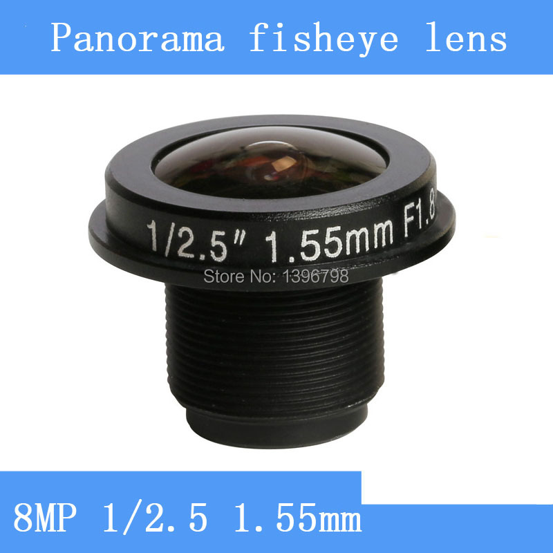 PU`Aimetis CCTV lens 8MP 1/2.5 HD 1.55mm fisheye panoramic surveillance camera 185 degrees wide-angle infrared M12 lens threadPU`Aimetis CCTV lens 8MP 1/2.5 HD 1.55mm fisheye panoramic surveillance camera 185 degrees wide-angle infrared M12 lens thread