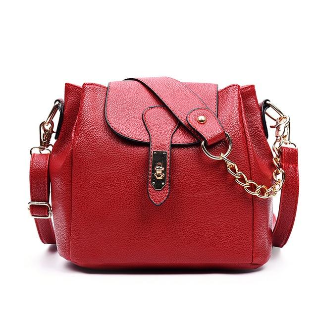 NOVO balde Cadeia pu bolsas de couro bolsa de ombro feminina bolsas crossbody sacos para As Mulheres sacos do mensageiro saco Do Vintage bolsas
