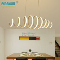Aluminum Acrylic Led Pendant Lights For Home Using & Office Using Dining Room Bar Kitchen Hanging Led Pendant Lamp Fixture