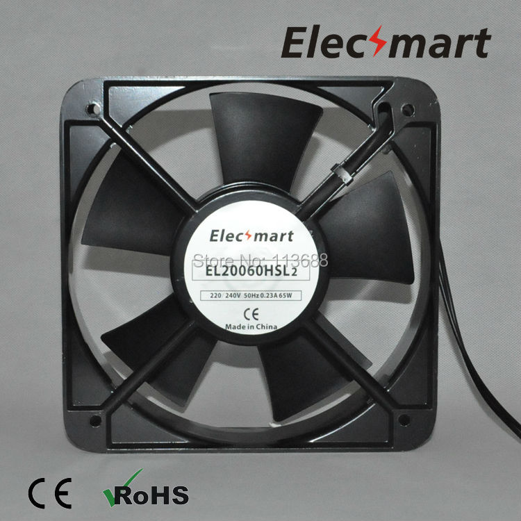 AC220V 200mm*200mm*60mm 2 Pin Connector Cooling Fan for Computer Case CPU Cooler Radiator