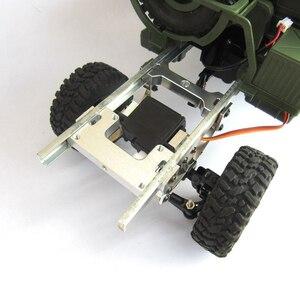 Image 3 - Per WPL B1 B 1 B14 B 14 B16 B 16 B24 B 24 C14 C 14 B36 MN modello D90 D91 RC aggiornamento auto parti modificato timone piastra di fissaggio in metallo