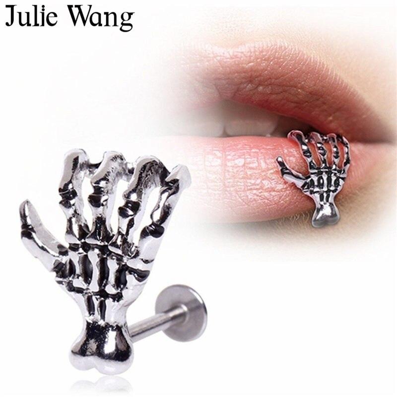 Skull Lip Ring