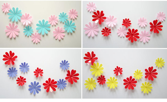 removable diy 3d three dimensional small flower wall stickers 12