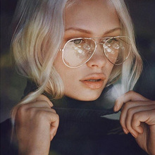 Hot Classic Clear Glasses Gold Frame Vintage Sunglass Women Men Optical Aviation Eyeglasses Transparent