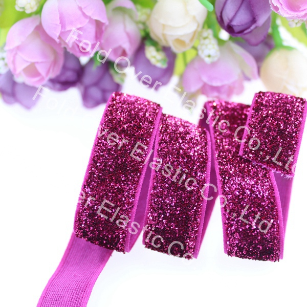 Free shipping 5 8 glitter elastic B 12 150yards lot color high quality frosted glitter elastic