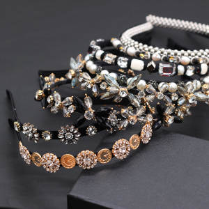 Headband Baroque Transparent Particle Korean-Version Simple The of Small Geometry Wild