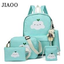 Women canvas backpacks 5pcs/Set school backpack for teenagers fashion female backpack Rucksack school bags women