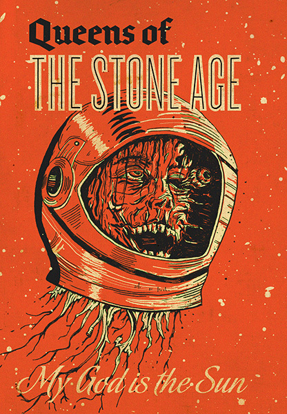 029 queens of the stone age art print rock band music art 24 x 34 poster