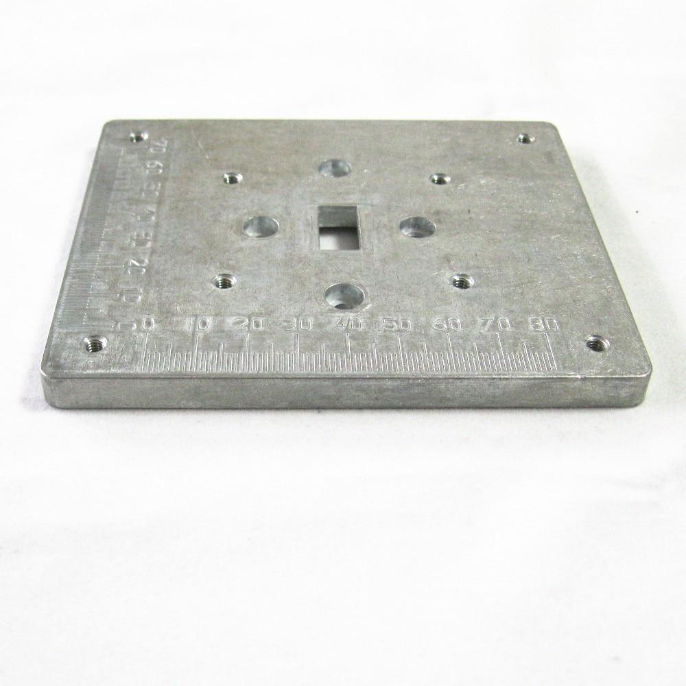 Metal mesa de perfuração Z026M 123 mm x 100 mm x 12 mm broca placa dedicada Zhouyu o primeiro ferramenta Mini máquina de perfuração acessório