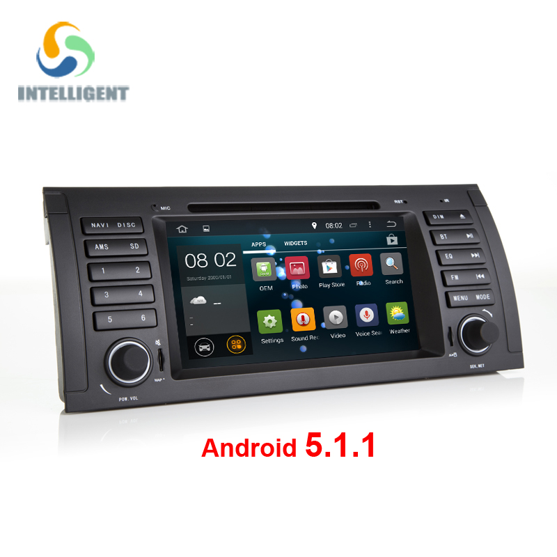 Android 5.1.1 Quad core HD 1024*600 screen 2 DIN Car DVD GPS Radio stereo For BMW E53 android E39 X5 wifi 3G GPS USB SWC AUDIO