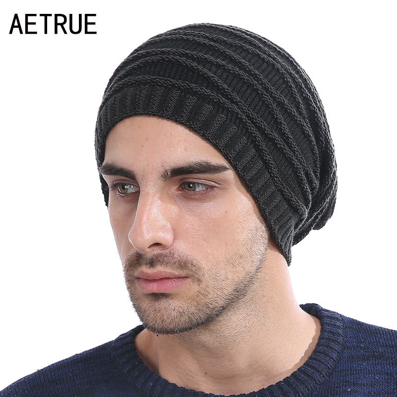 цена на Beanies Men Winter Hats Women Knitted Hat Bonnet Caps Baggy Brand Women's Winter Hats For Men Warm Wool Skullies Beanie New 2017