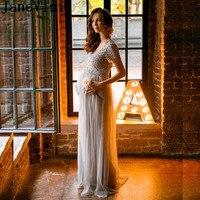 JaneVini серебристо Серые Вечерние платья 2019 с блестками для беременных женщин длинное вечерние платье из тюля платья для матери невесты