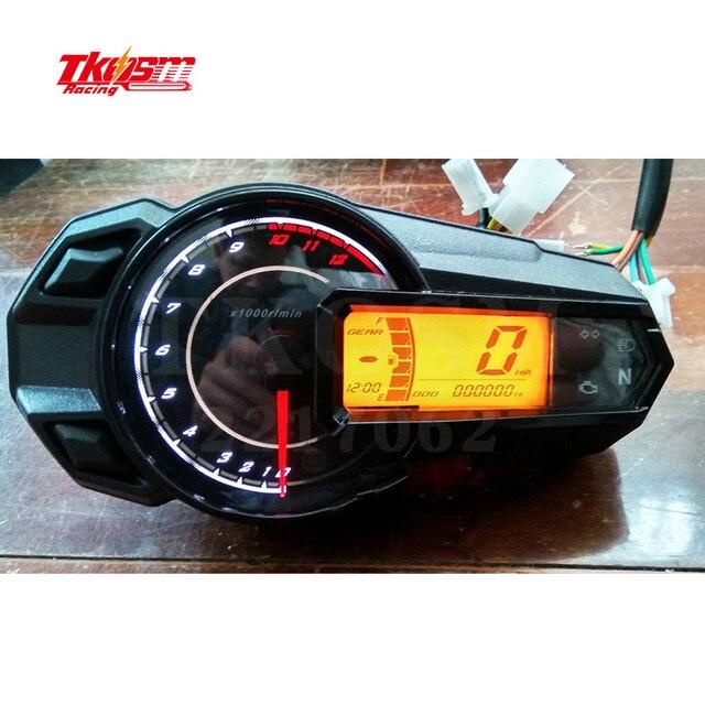 2017 Brand New Lcd Backlight Motorcycle Speedometer Odometer Tachometer Kmh MUniversal Motorcycle Speedometer Sensor12000RPH