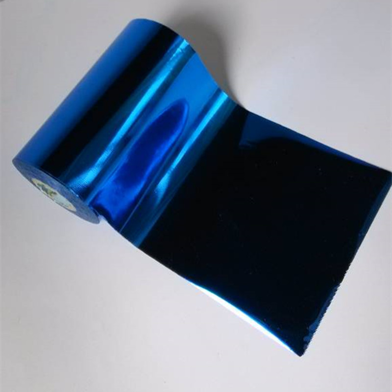 Hot stamping foil hot press on paper or plastic deep blue color 16cm x 120m heat transfer film