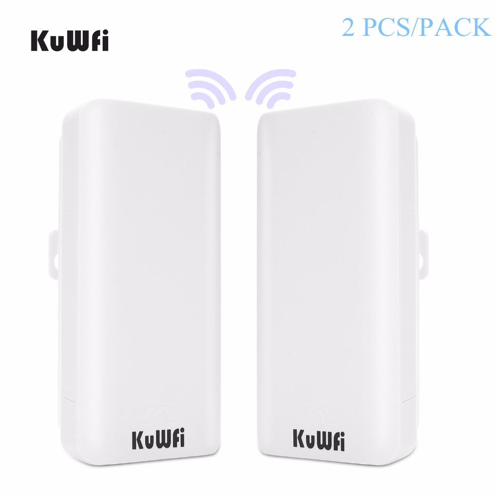 US Shipping 2PCS High Power Outdoor CPE Router 2KM WiFi Bridge Access Point AP Router Wifi Repeater Extender With WDS Function