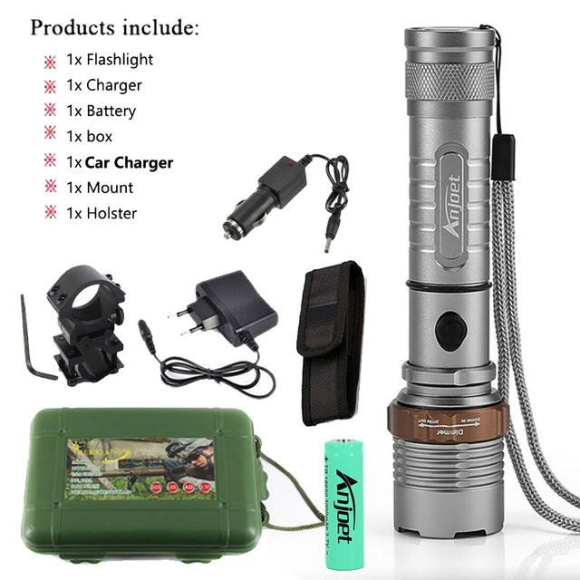 500 Lumens Aluminium /& Stainless Steel Torch 5 modes of use