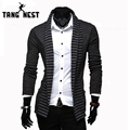Sweater Men 2017 Hot Sale Casual Men Sweater Personality Leisure Cardigans Strip Design Pachwork Sweater Asian size M-XXL MZL026