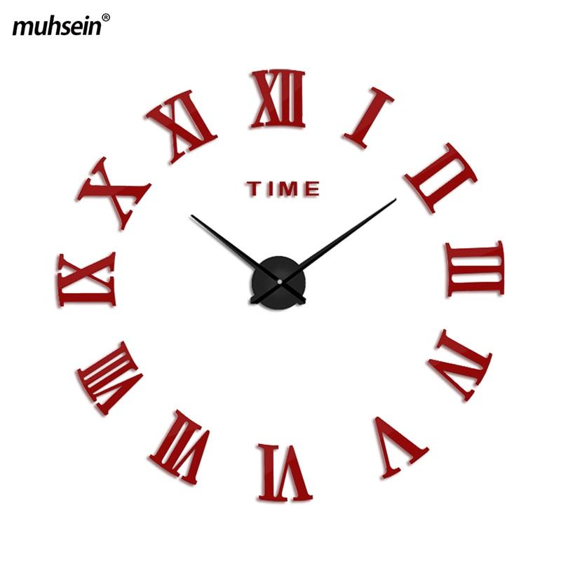 2019 muhsein קיר שעונים אופנה Brief קוורץ שעון סגנון שעון קיר גדול wallclock עיצוב הבית קישוט סלון סלון