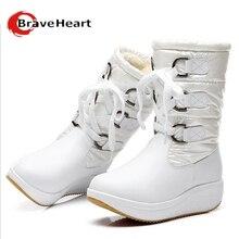ขนฤดูหนาวใหม่รองเท้าหนังแท้กันน้ำหนัก- ท้องแบนรองเท้าหิมะรองเท้าผู้หญิงรองเท้าฤดูหนาวที่อบอุ่นผู้หญิงรองเท้า35- 40