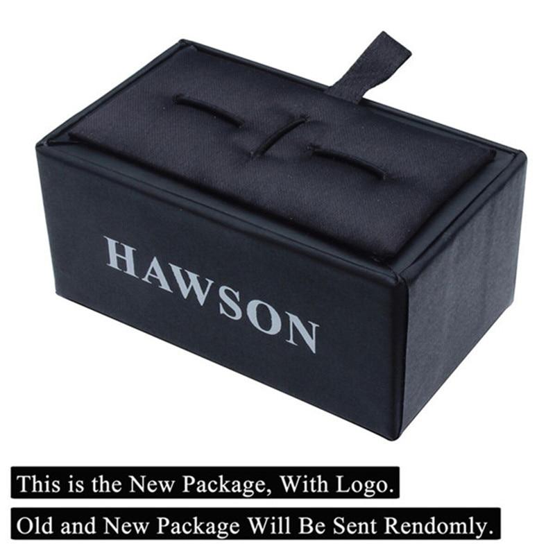 HAWSON 클래식 스타일 커프스 단추 세계지도 실버 - 패션 쥬얼리 - 사진 4