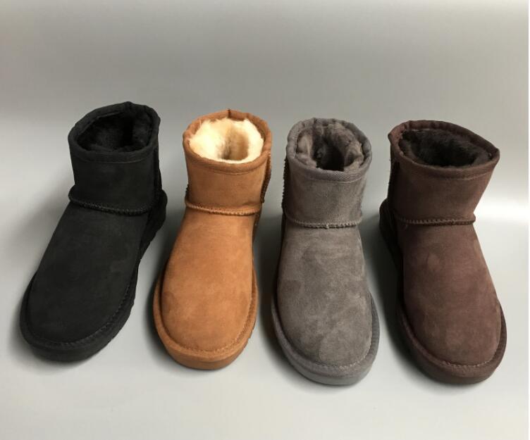 2019 Classic winter black womens shoes snow boots geniune cow leather fur shoes warm cotton boots snow boots2019 Classic winter black womens shoes snow boots geniune cow leather fur shoes warm cotton boots snow boots