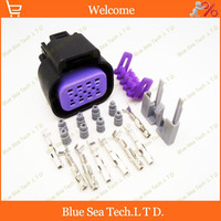 Sample 2 Sets 8 Pin Way Auto Connectivity For DELPHI Car Waterproof Electrical Head Lamp Plug
