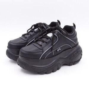 Image 2 - Comfabea 2020 Wiggen Schoenen Voor Vrouwen Lente Sneakers Dikke Bodem Flats Platform Schoenen Casual Dames Creeper Punk Schoenen