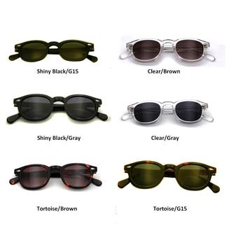 High Quality Acetate Glasses Sunglasses Men Round Small Retro Rivet Sunglasses Women Sun Glasses Uv400 Occhiali Da Sole Donna 8