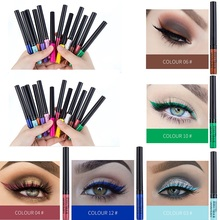 Sexy Hot Eyeliner Liquid Waterproof Easy To Wear Make Up Matte Eye Liner Blue Red Green White Gold delineador ojos