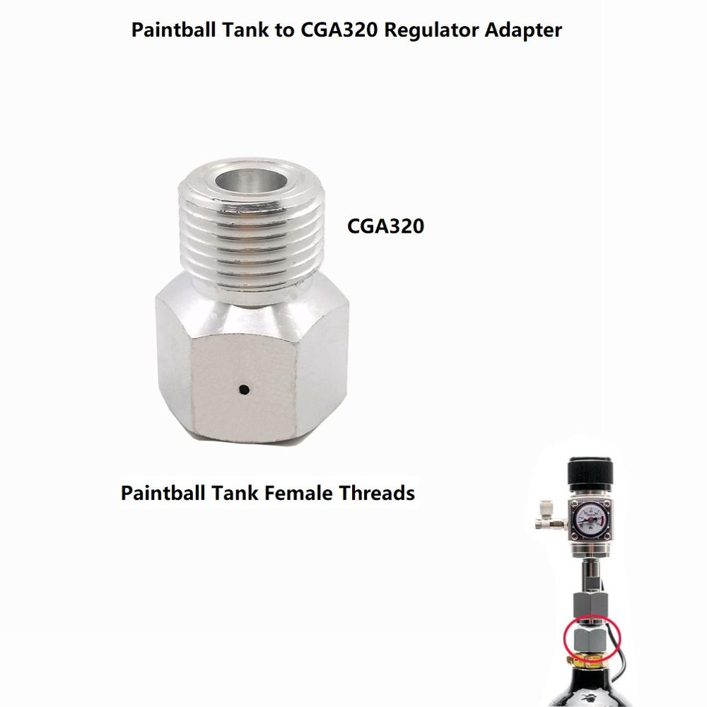 Paintball Co2 Tank To Standard Regulator For Air Tool, Beer Home Brew Keg, Aquarium Fish