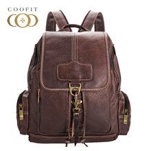 Coofit Дизайн искусственная кожа школьный рюкзак для девочек-подростков винтажные женские ноутбук рюкзак дорожная сумка женский шнурок рюкзаки