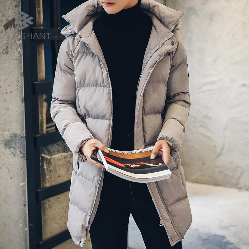 Zeeshant Long Jacket Men Long Puffer Coat Quilted Winter Warm Coat Cotton Parka Mens Winter Hat Jacket Men in Men's Parkas XXL factory outlets 2014 new winter in europe and america women british style stitching cotton quilted jacket short parkas coat
