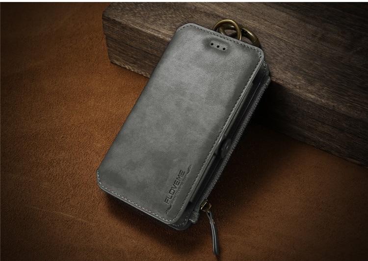 HTB1odZtfYZnBKNjSZFKq6AGOVXag FLOVEME Luxury Retro Wallet Phone Case For iPhone 7 7 Plus XS MAX XR Leather Handbag Bag Cover for iPhone X 7 8 6s 5S Case shell