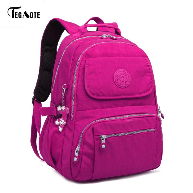 TEGAOTE Fashion Women Backpack High Quality Youth School Backpacks for Teenage Girls Female Shoulder Bag Bagpack mochila tegaote new design women backpack bags fashion mini bag with monkey chain nylon school bag for teenage girls women shoulder bags