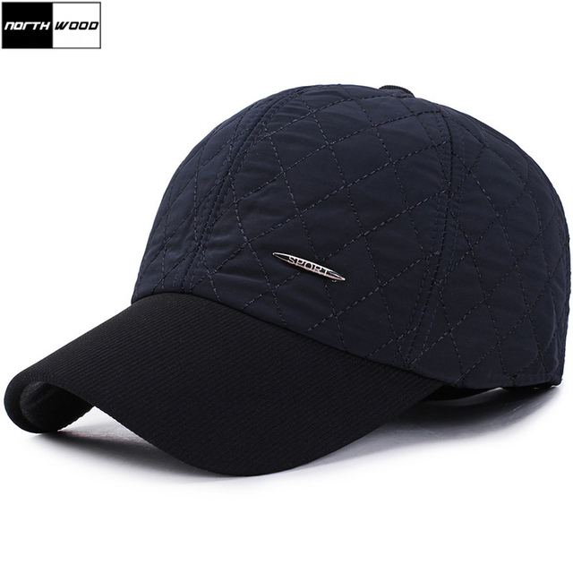 cdd97f7fd90e  NORTHWOOD  Brand Cotton Winter Baseball Cap Men Casquette Homme Snapback  Trucker Cap With Ear Flaps Outdoor Warm Winter Hats