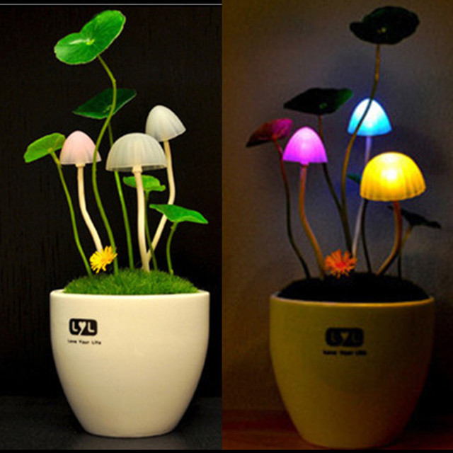 Romantic Home Illumination Colorful LED Mushroom Night Light DreamBed Lamp  Home Illumination Flashlight Lava Lamp Plasma